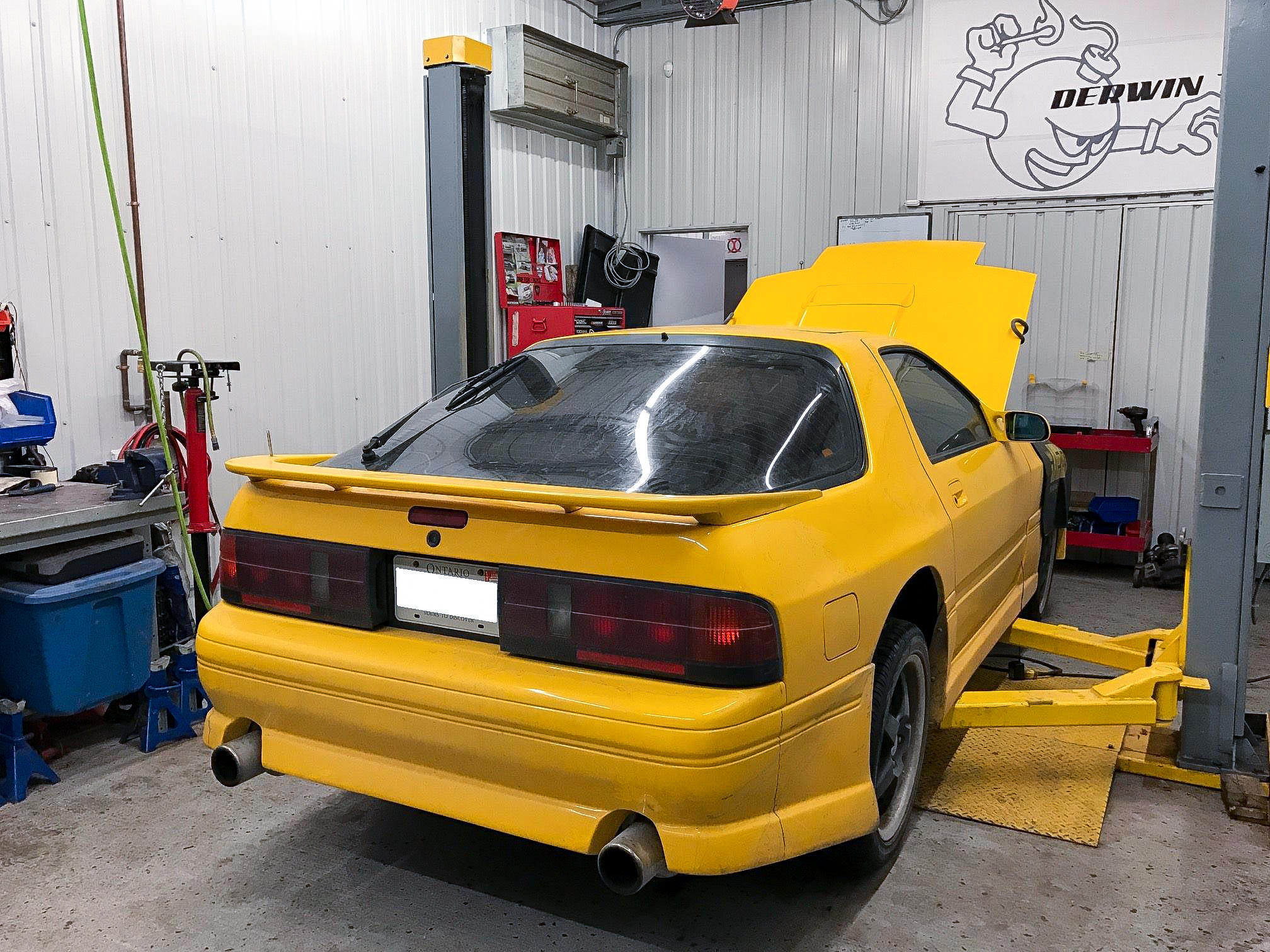 RX7 FC TII 1988 yellow single turbo 240whp – Derwin